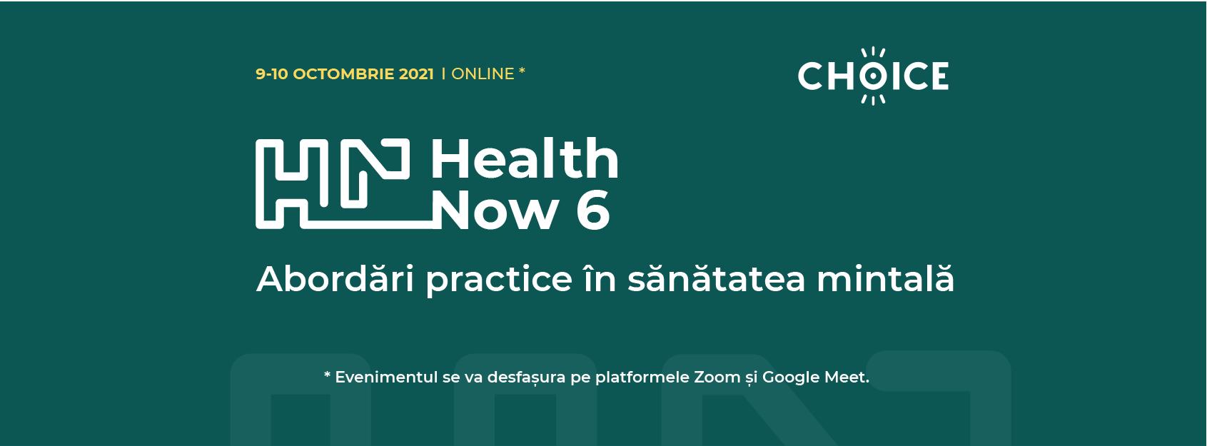 În Curând: Conferința de Psihologie Health Now 6: Abordări Practice în Sănătatea Mintală